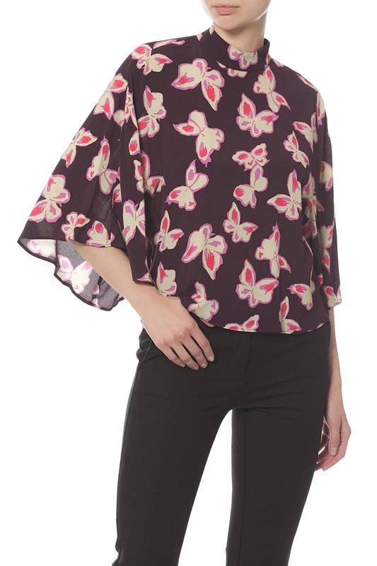 Блуза женская MANGO фиолетовая M