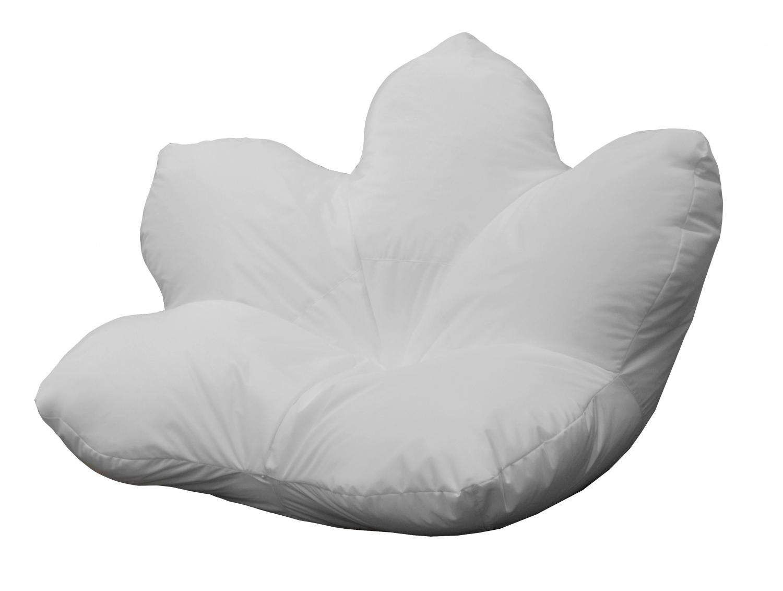 Кресло-мешок Pazitif Цветок Пазитифчик, размер XXL, оксфорд, белый