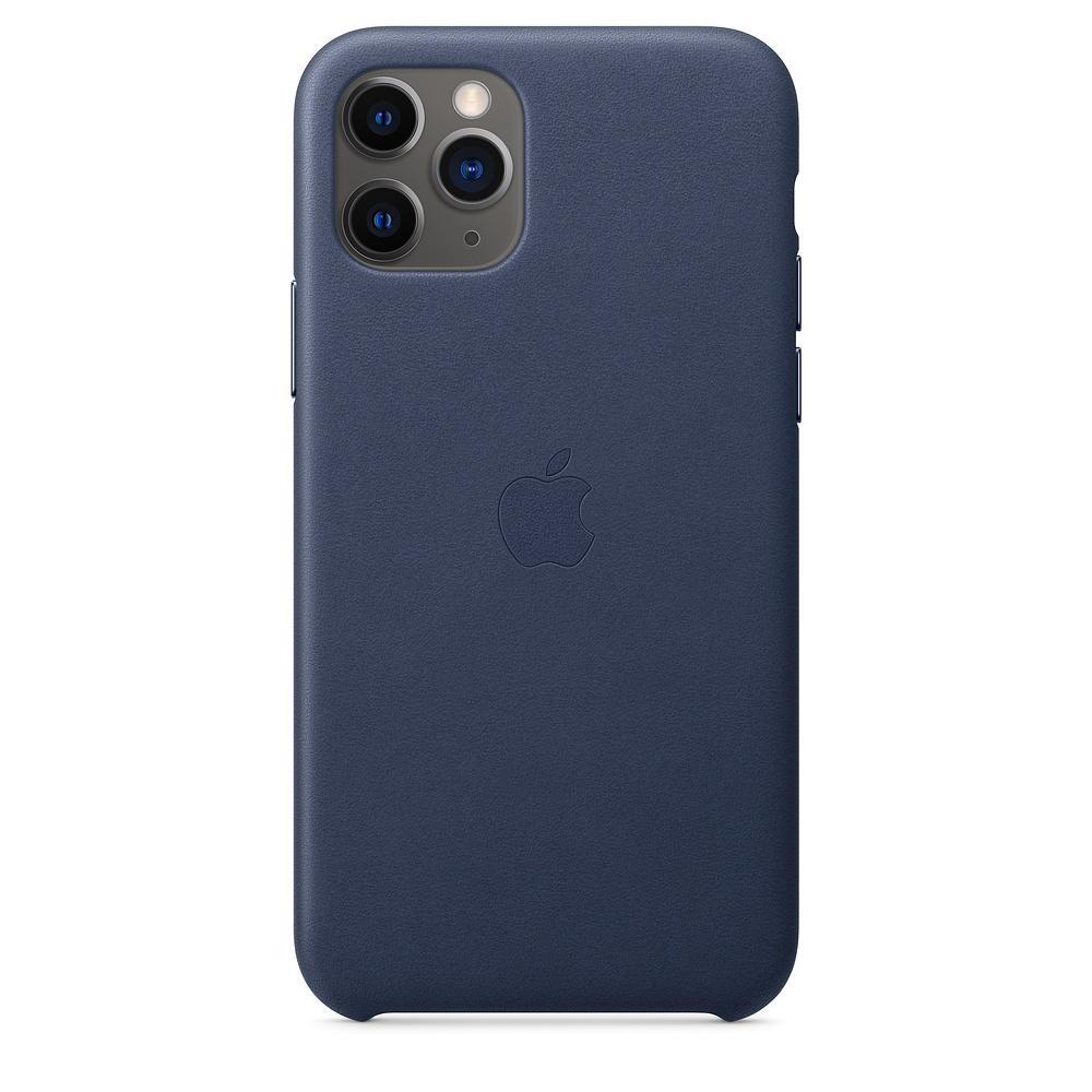Чехол Apple для iPhone 11 Pro Leather Case - Midnight Blue