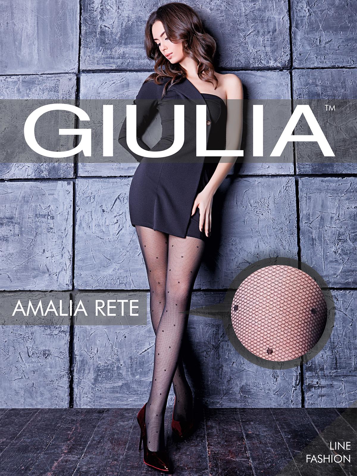 Колготки женские Giulia AMALIA RETE 01_nero черные 3 (M)