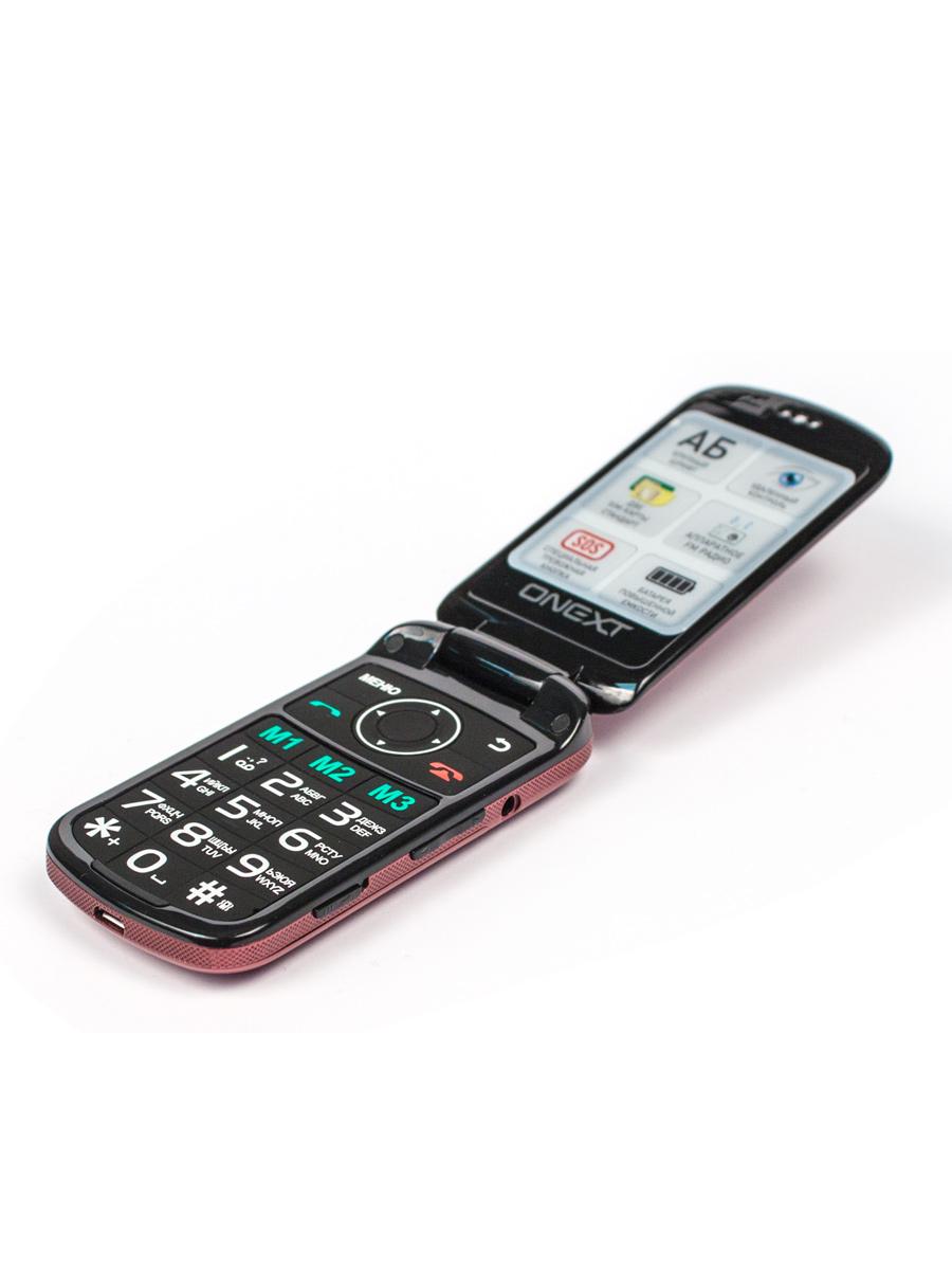 Телефон ONEXT с большими кнопками Care-Phone 6, красный