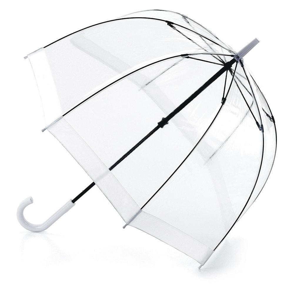 Зонт-трость женский механический Fulton L041-02 белый