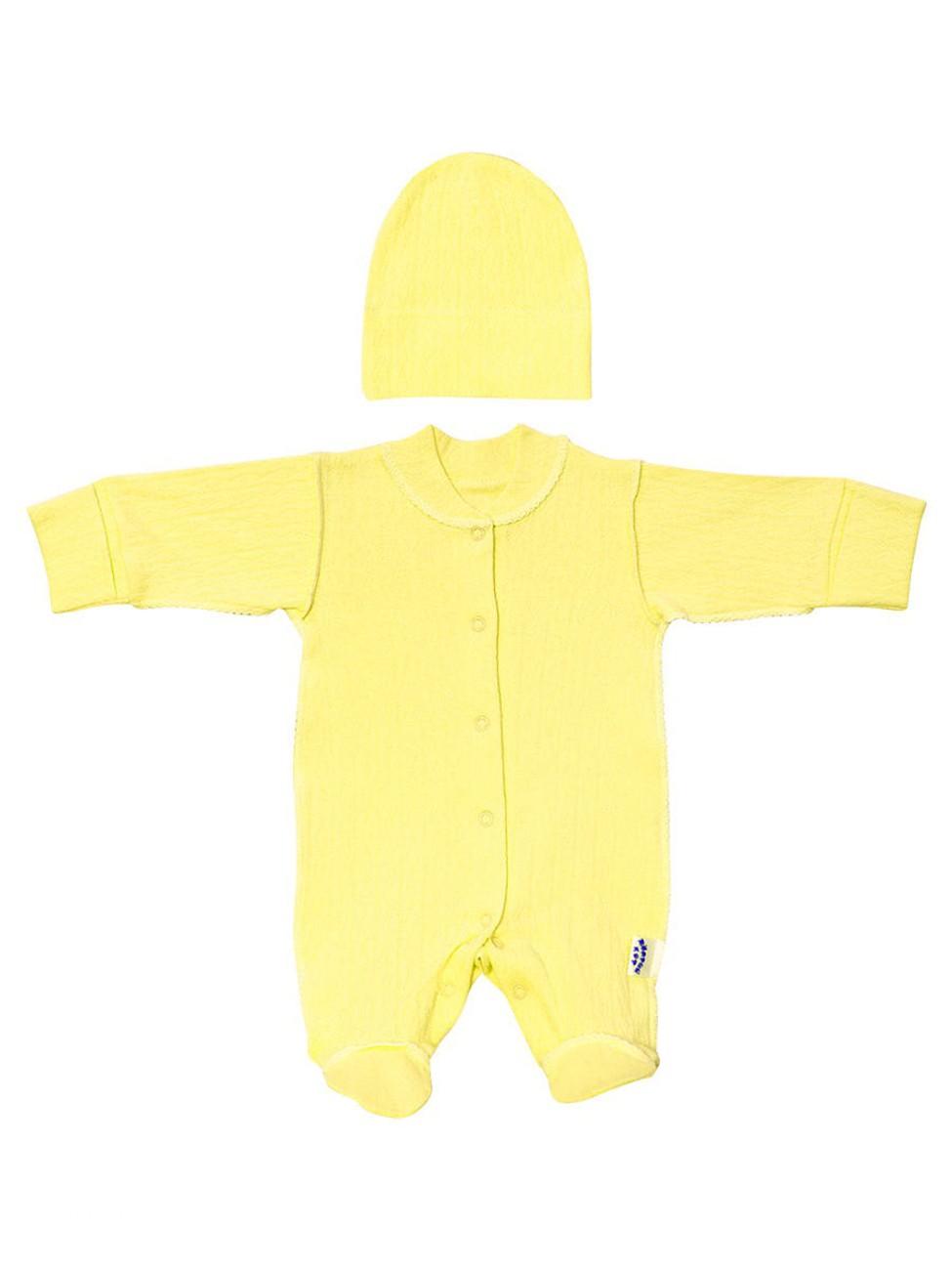 Комплект одежды Желтый кот, цв. желтый р.62 фото