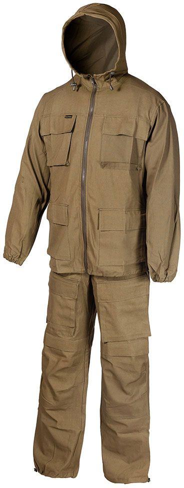 Костюм камуфляжный Huntsman Егерь, ткань палатка 56-58, хаки, мужской