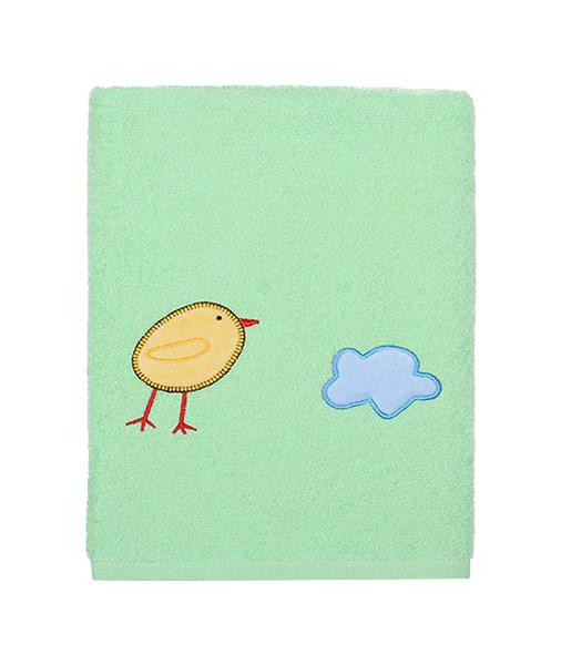 Купить Полотенце Kidboo Цыпленок 70x100 зеленый,