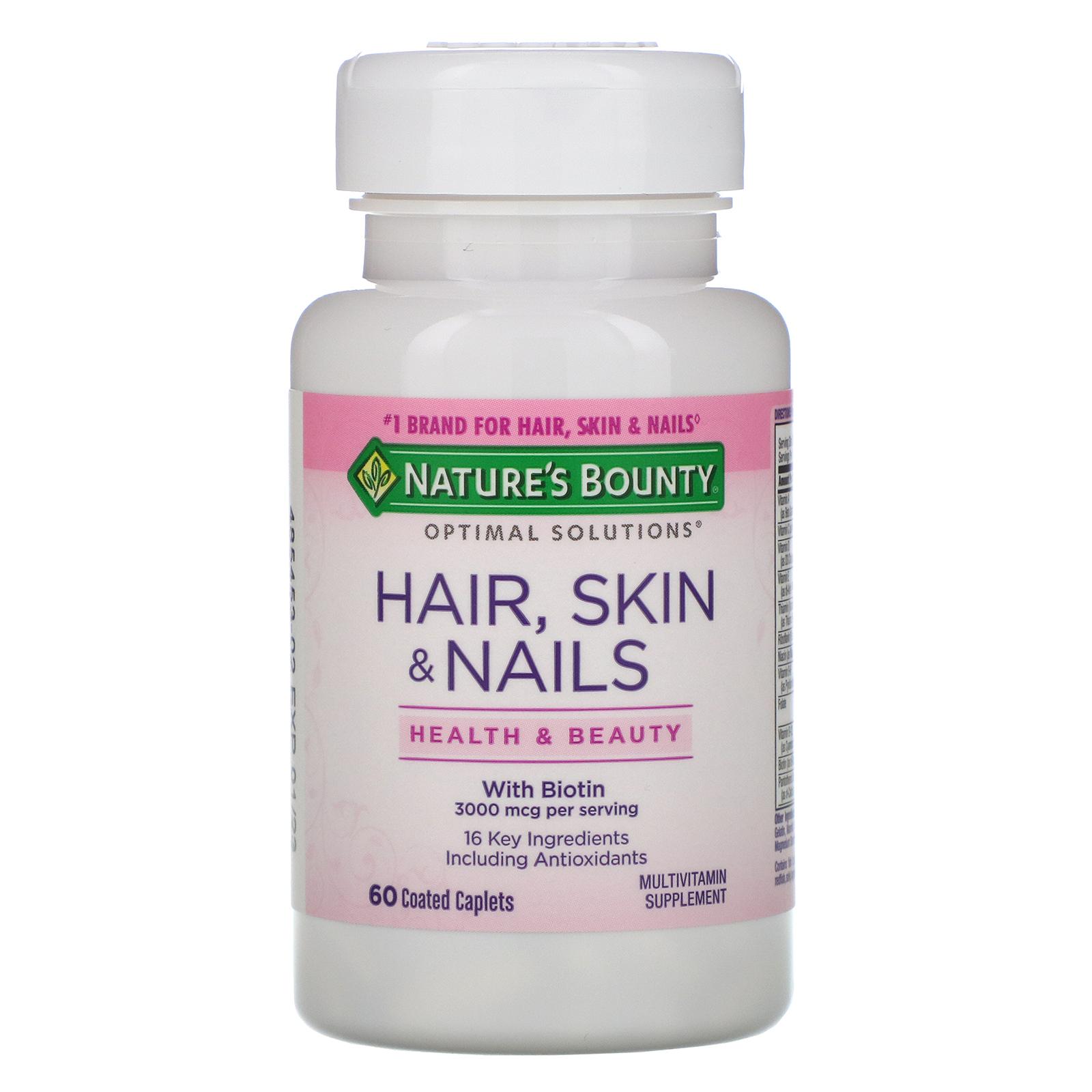 Купить Кожа, волосы, ногти, Кожа волосы ногти Nature's Bounty 60 капсул