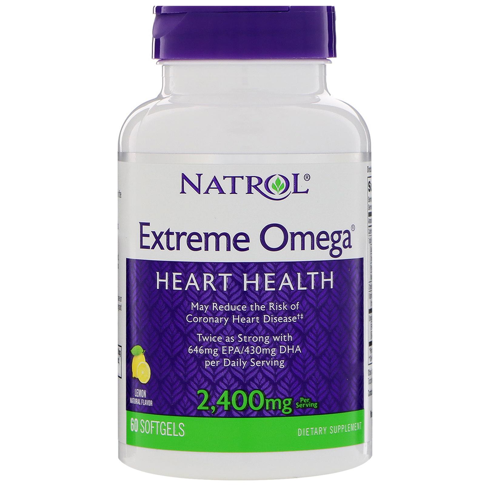 Omega-3 Natrol Extreme Omega 60 капсул фото