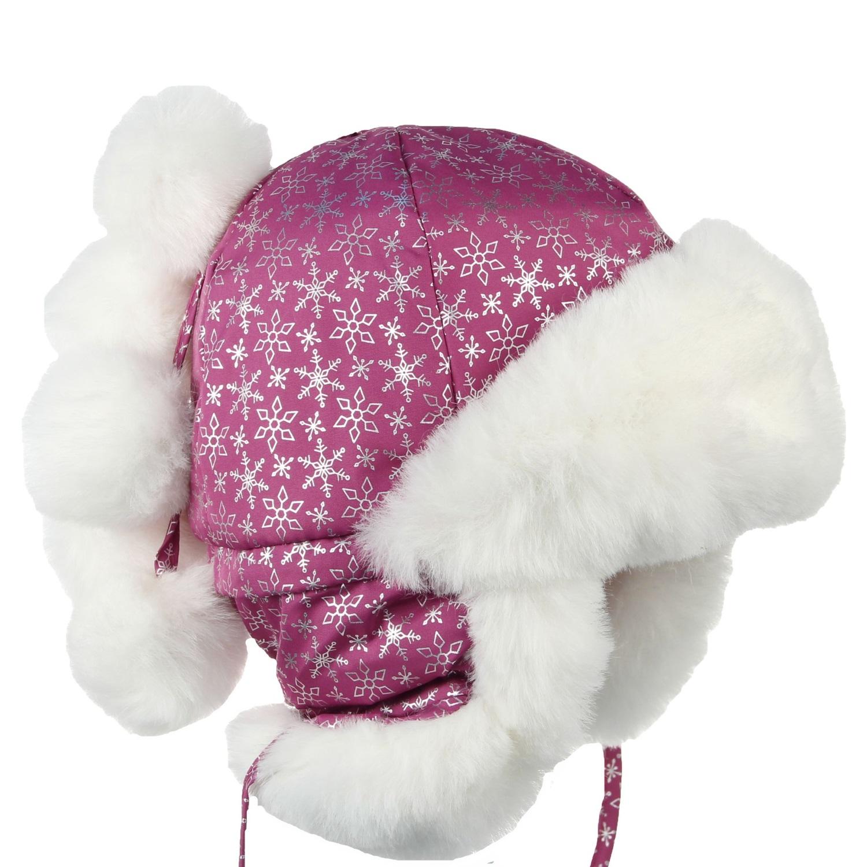 Шапка Olle Снежинка лиловый р. GL001223151