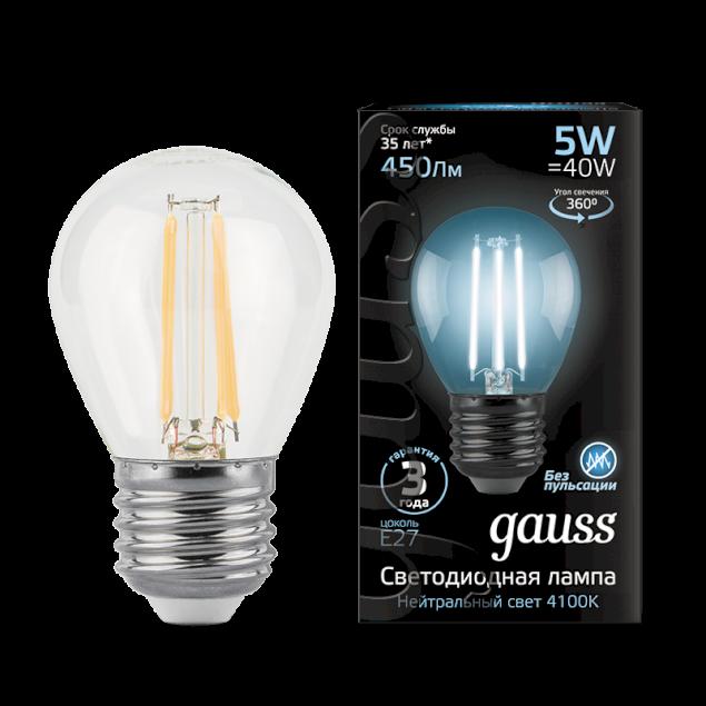 Лампочка Gauss 105802205-D E27 5W