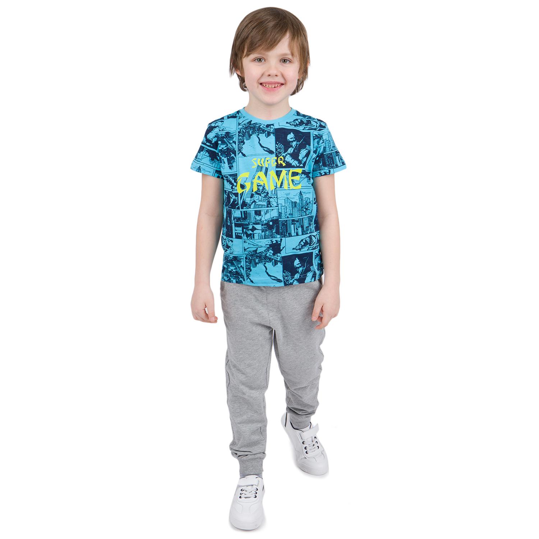 Купить GL001068065, Футболка Leader Kids голубой р.110,