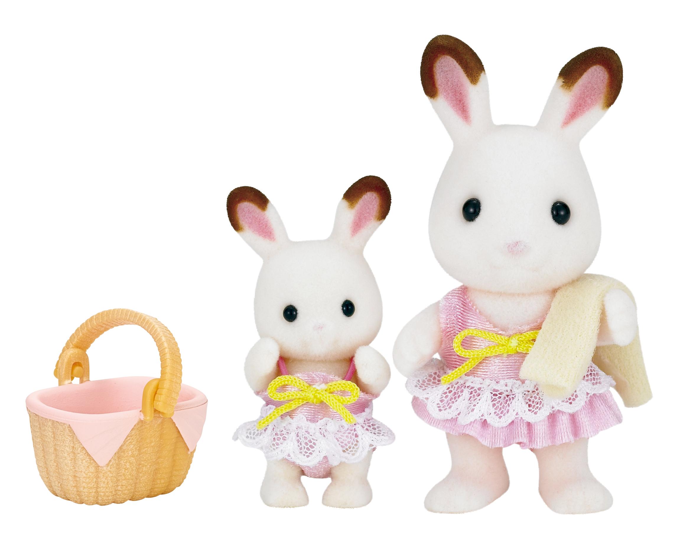 Купить Игровой набор sylvanian families кролики в купальных костюмах, Игровые наборы