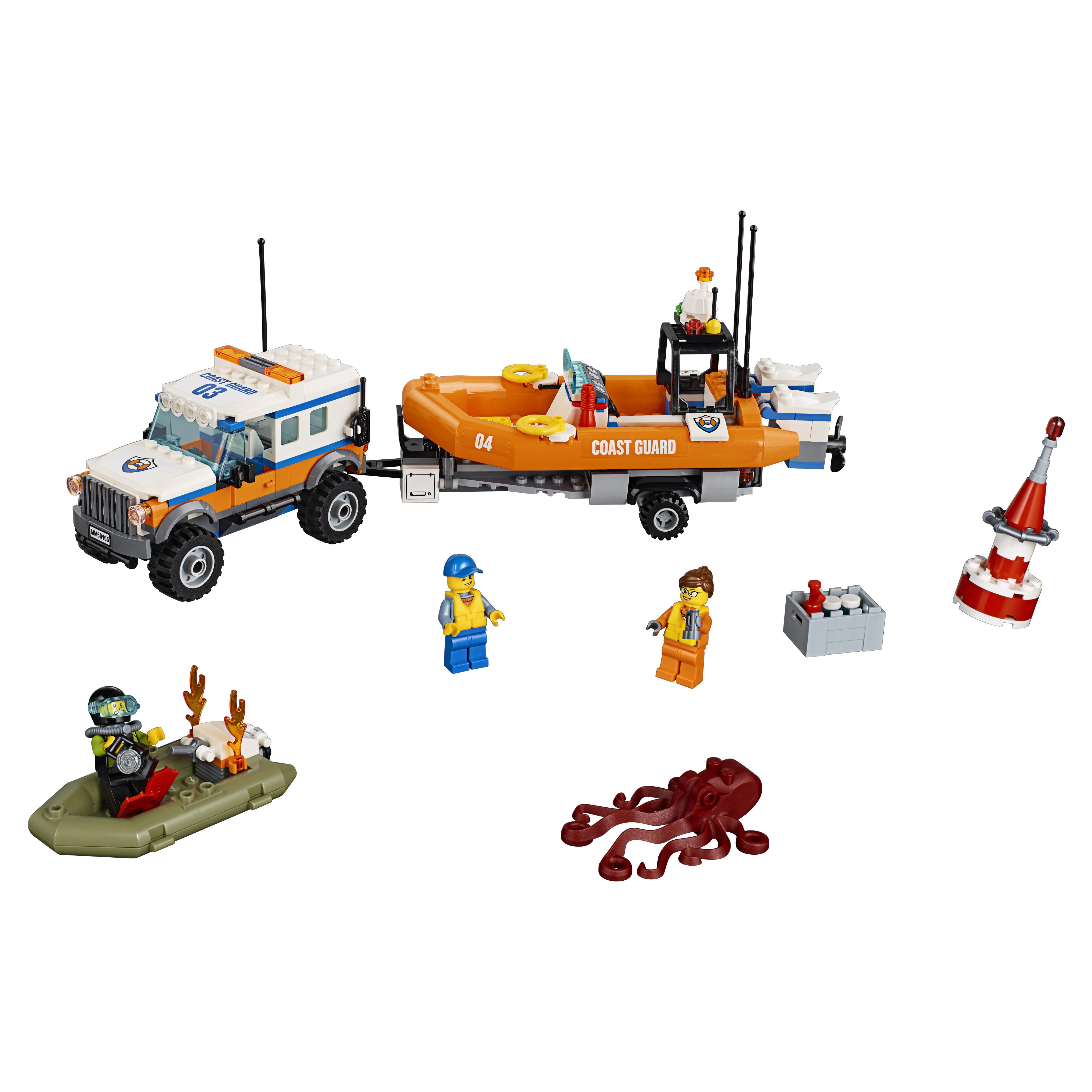 Конструктор LEGO City Coast Guard Внедорожник 4х4 команды быстрого реагирования (60165) фото