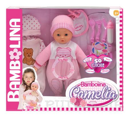 Пупс интерактивный Dimian Bambolina Camelia, 40 см фото