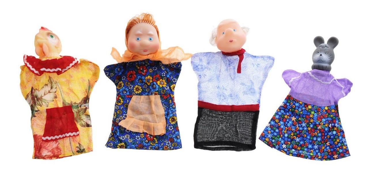 Игровой набор Русский Стиль Кукольный театр Курочка Ряба пакет 11092