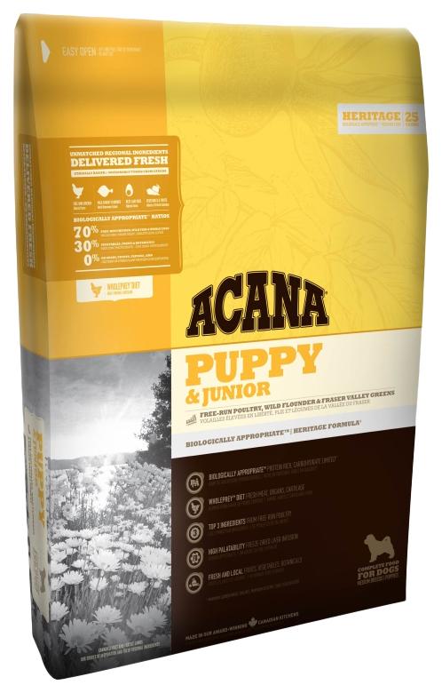 Сухой корм для щенков ACANA Heritage Puppy & Junior, цыпленок, 11,4кг фото