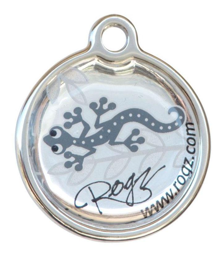 Адресник на ошейник для собак ROGZ Fancy Dress Серый L - 31 мм фото