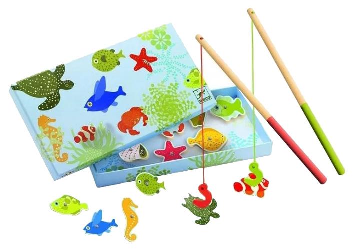 Купить Семейная настольная игра Djeco Тропическая рыбалка, Магнитные настольные игры