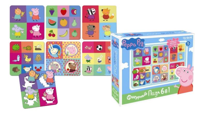 Купить Пазл Origami Peppa Pig Герои и предметы, Оригами, Пазлы