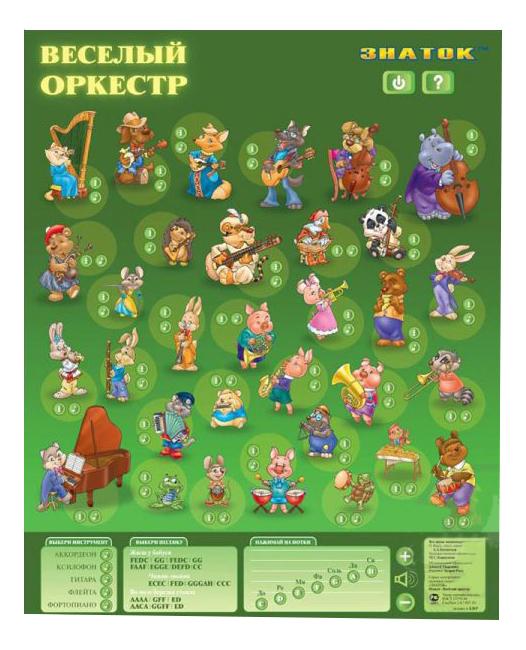 Интерактивный плакат Знаток Веселый оркестр