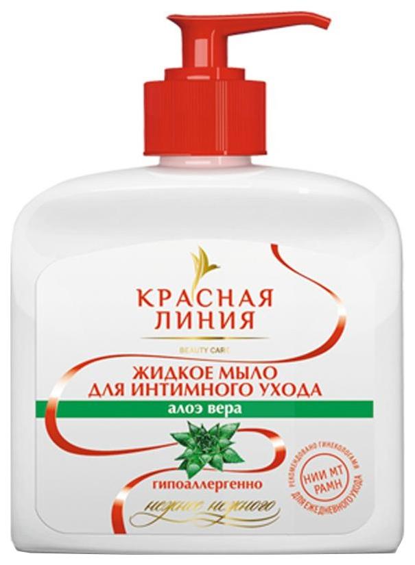 Жидкое мыло для интимного ухода Красная линия Алоэ