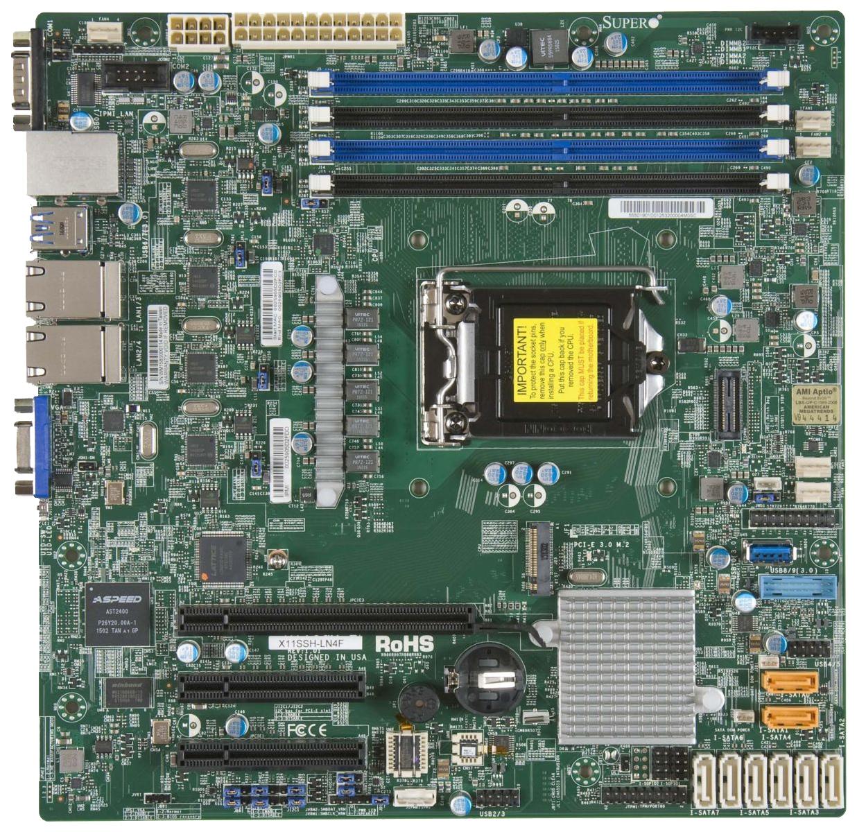 Материнская плата  Supermicro MBD X11SSH LN4F