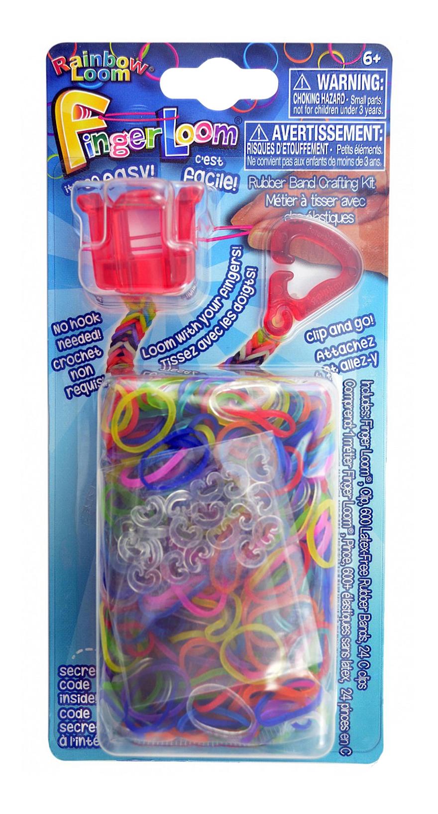 Плетение из резинок Rainbow Loom Фингер Лум красный