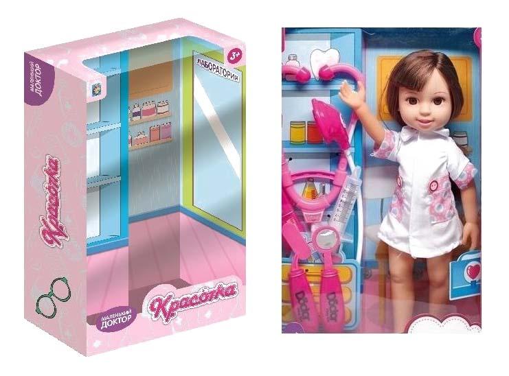 Кукла красотка маленький доктор с аксессуарами 1Toy т10283