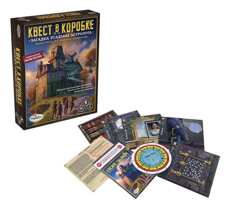 Купить Семейная настольная игра ThinkFun Загадка Усадьбы астролога, Семейные настольные игры