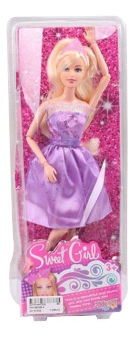 Кукла Sweet Girl в фиолетовом платье Gratwest Д79486