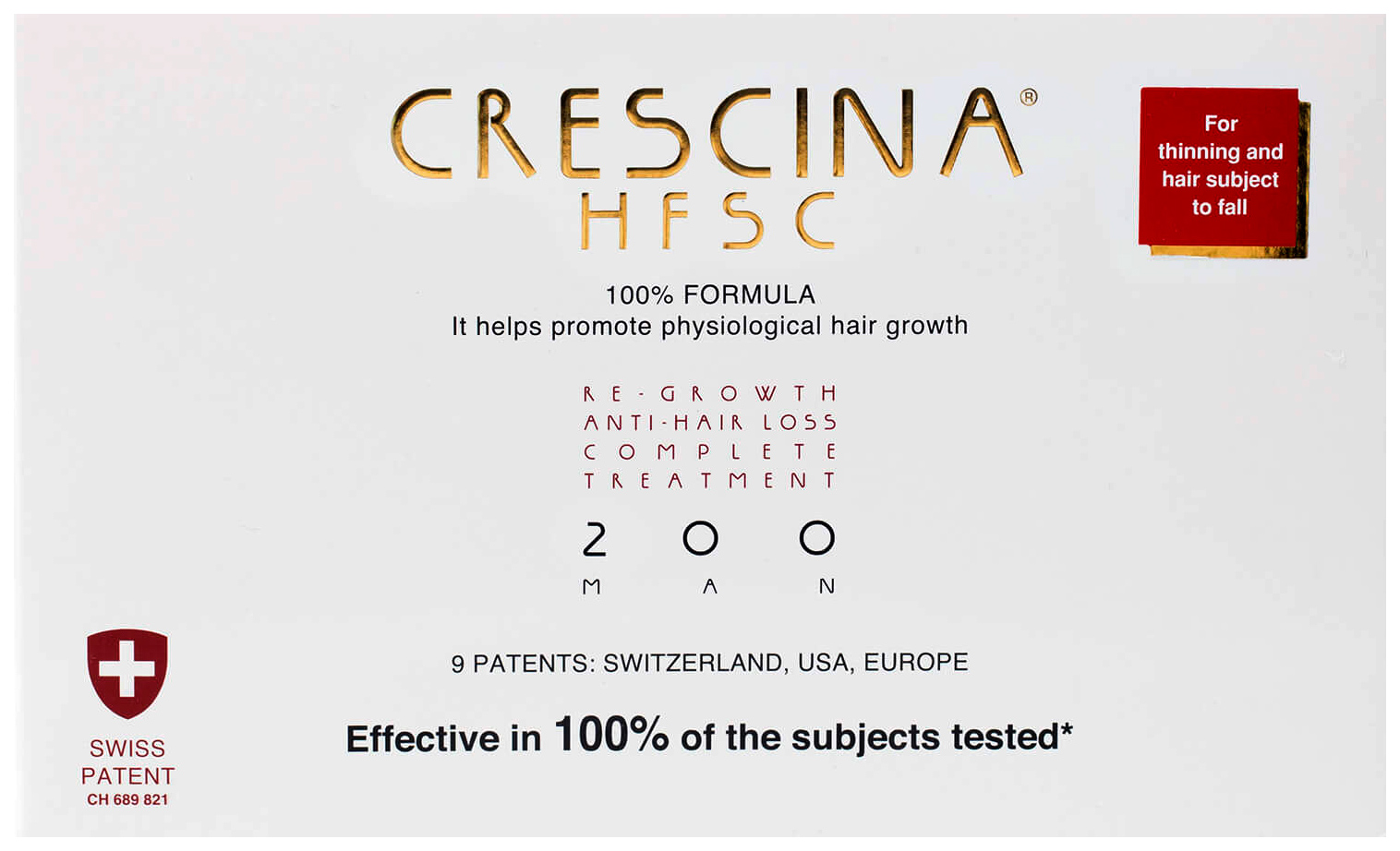 Купить Ампулы для волос Crescina 200 для стимулирования роста волос для мужчин №10+лосьон, Комплекс 200 HFSC 100% для стимулирования роста волос для мужчин