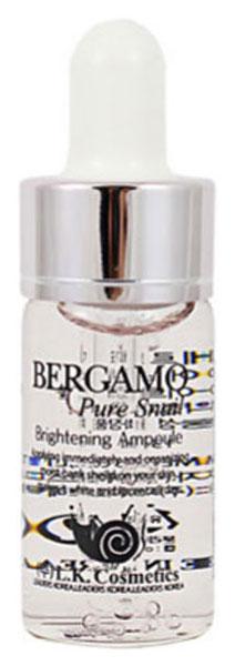 Сыворотка Bergamo ампульная с муцином улитки для сияния кожи, 4 ампулы