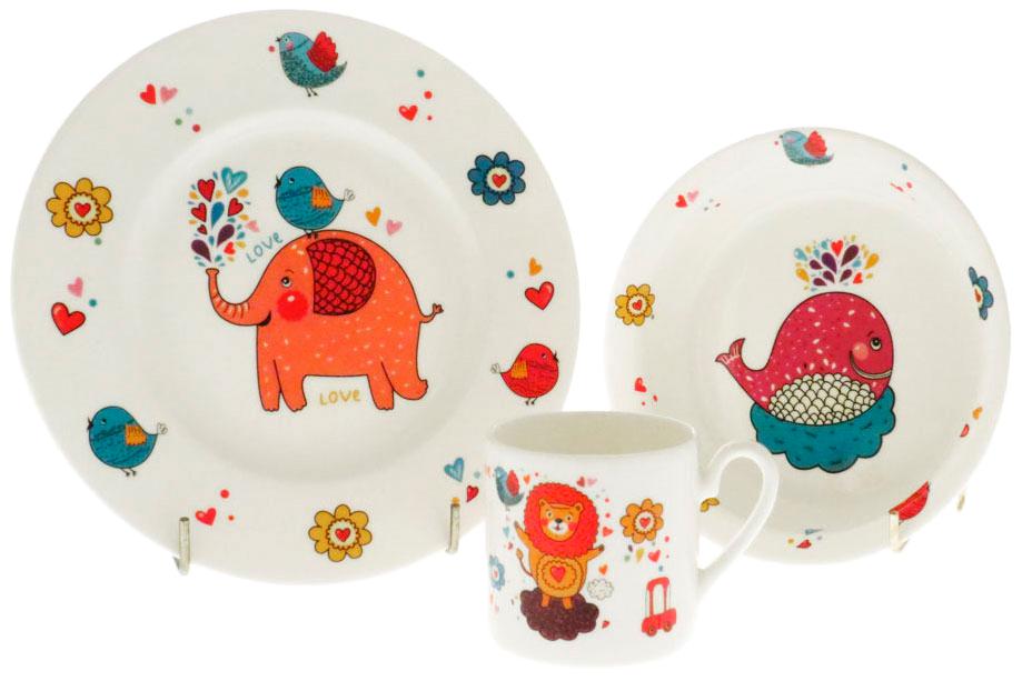 Набор посуды игрушечный Top Art Studio Забавный зоопарк 3 пр XTOPSYM1393 фото