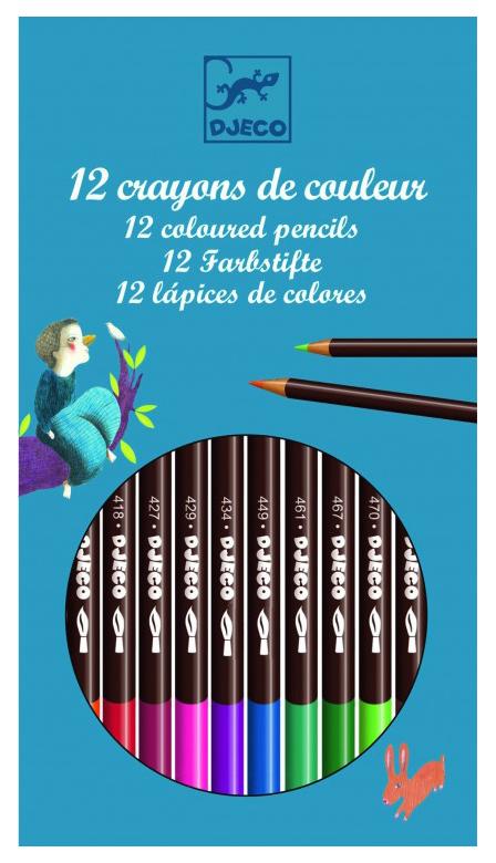 Купить 8824, Карандаши цветные Djeco 12 шт., Цветные карандаши