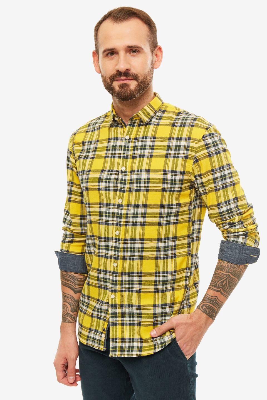 Рубашка мужская TOM TAILOR Denim желтая