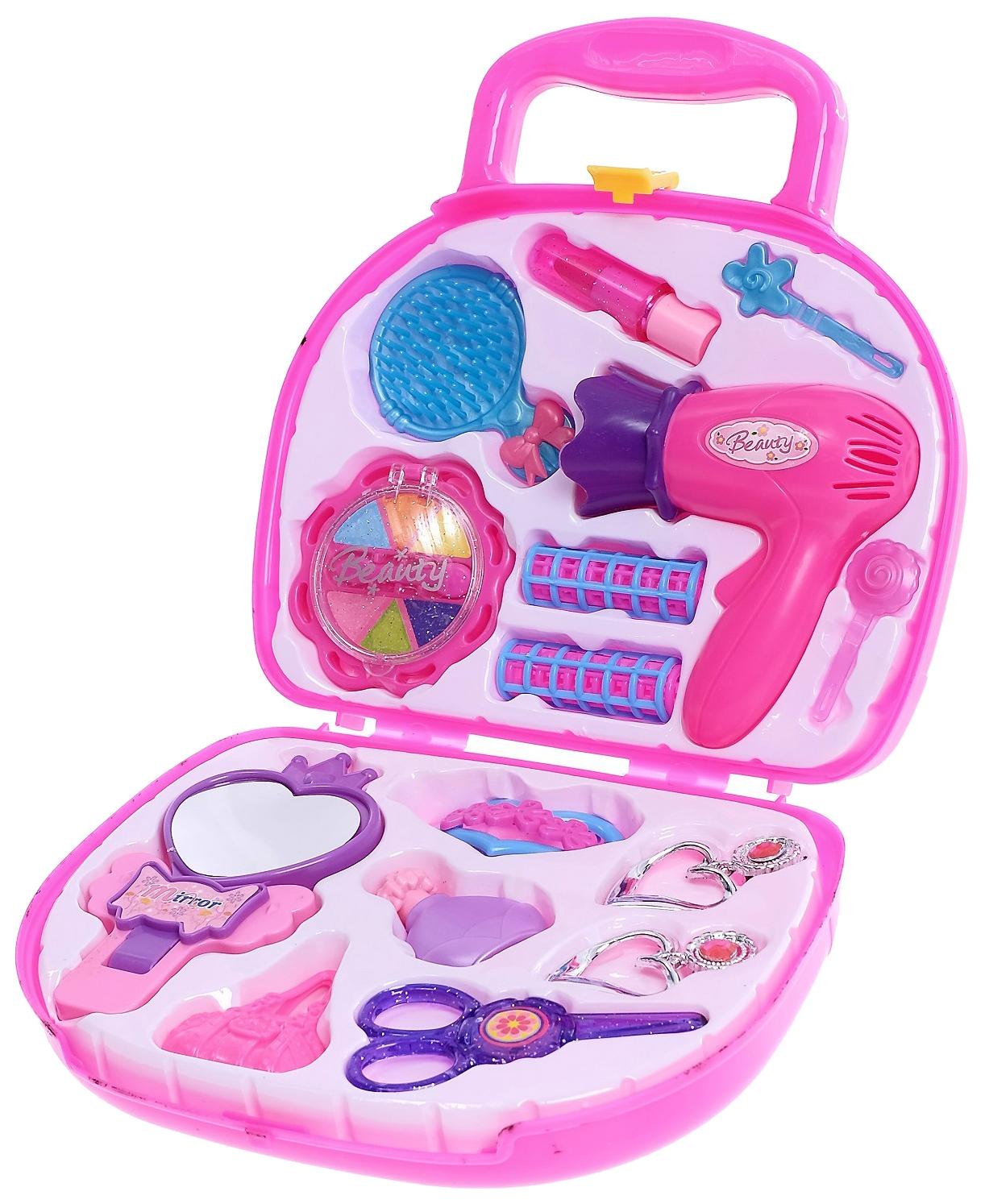 Купить Набор парикмахера в чемодане, 15 предметов Sima-Land, Детские наборы парикмахера