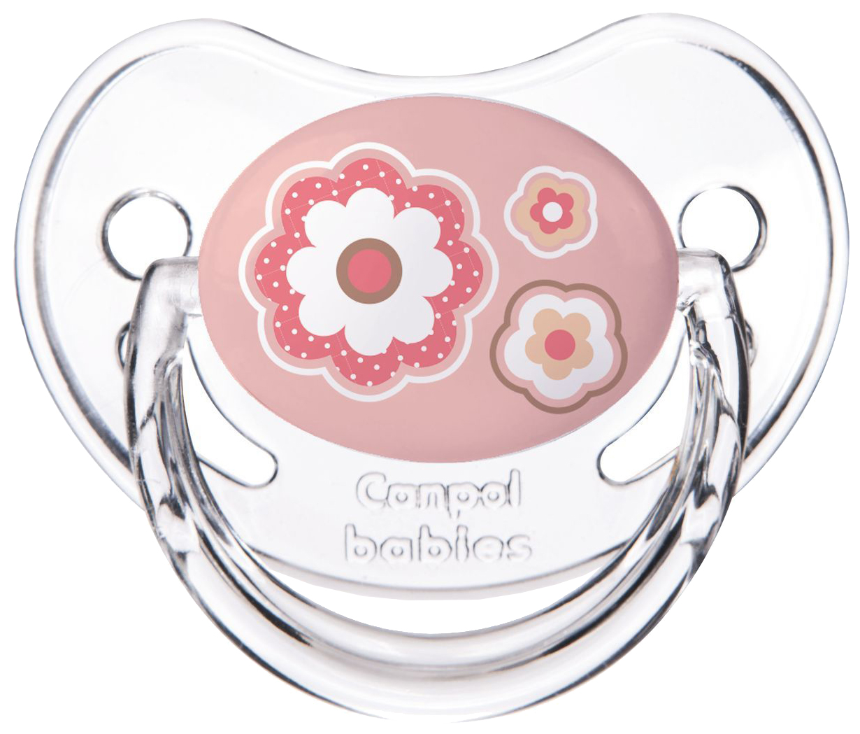 Пустышка Canpol Newborn baby симметричная, силикон, 0-6 мес., арт. 22/580 цвет розовый