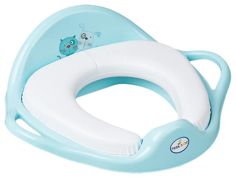 Купить ТЕГА Мягкая накладка на унитаз DOG and CAT (ПЁС и КОТ) голубой PK-020-101, Tega Baby, Детская накладка на унитаз