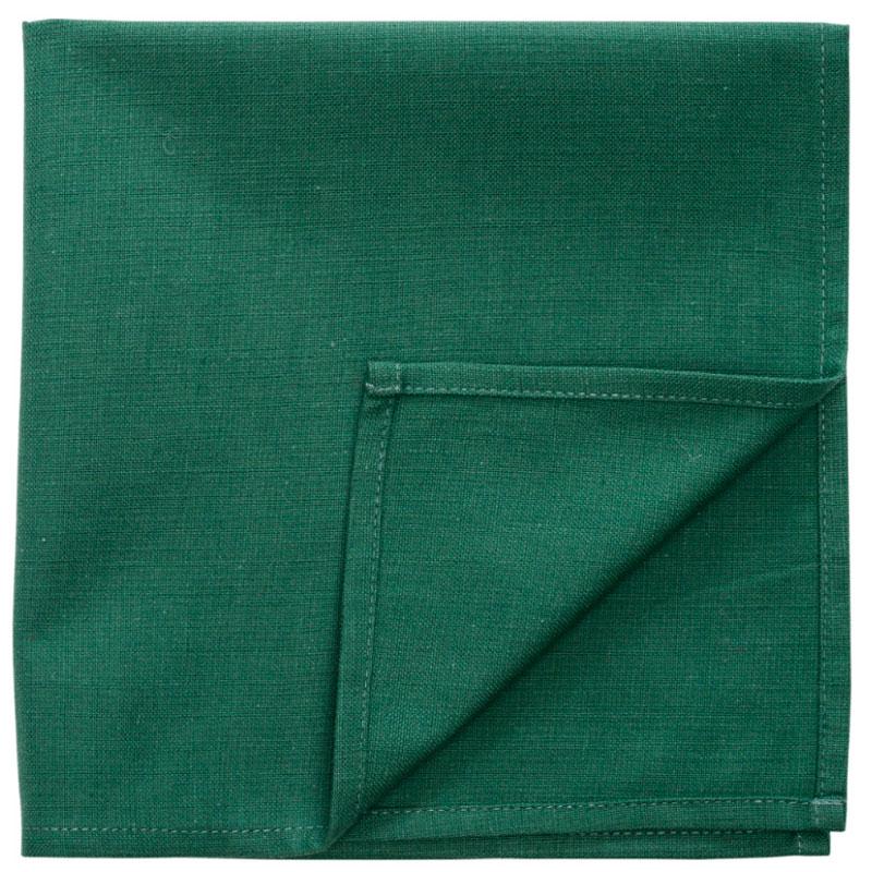Сервировочная салфетка из хлопка зеленого цвета Russian