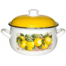 Кастрюля эмалированная Interos Лимоны 2,1л с кр.