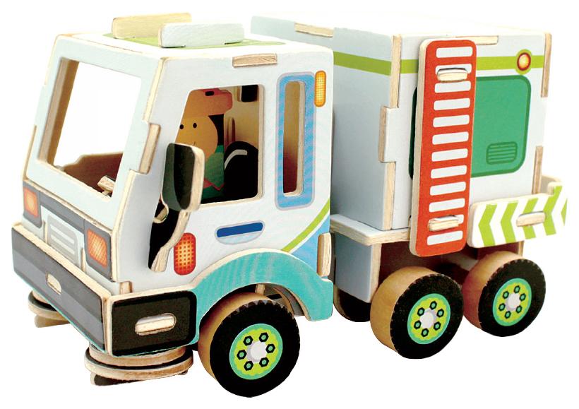 Купить 3D Пазлы Rezark Дорожно-строительная техника Уборочная машина RT-004 16 x 10, 6 x 9, 4 см, 3D пазлы