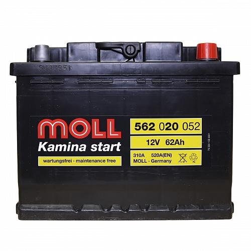 Аккумулятор MOLL Kamina Start 62R 520A 242x175x190 562020051 фото