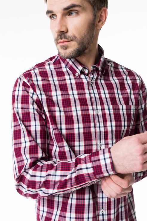 Рубашка мужская Baon B668019 красная XL