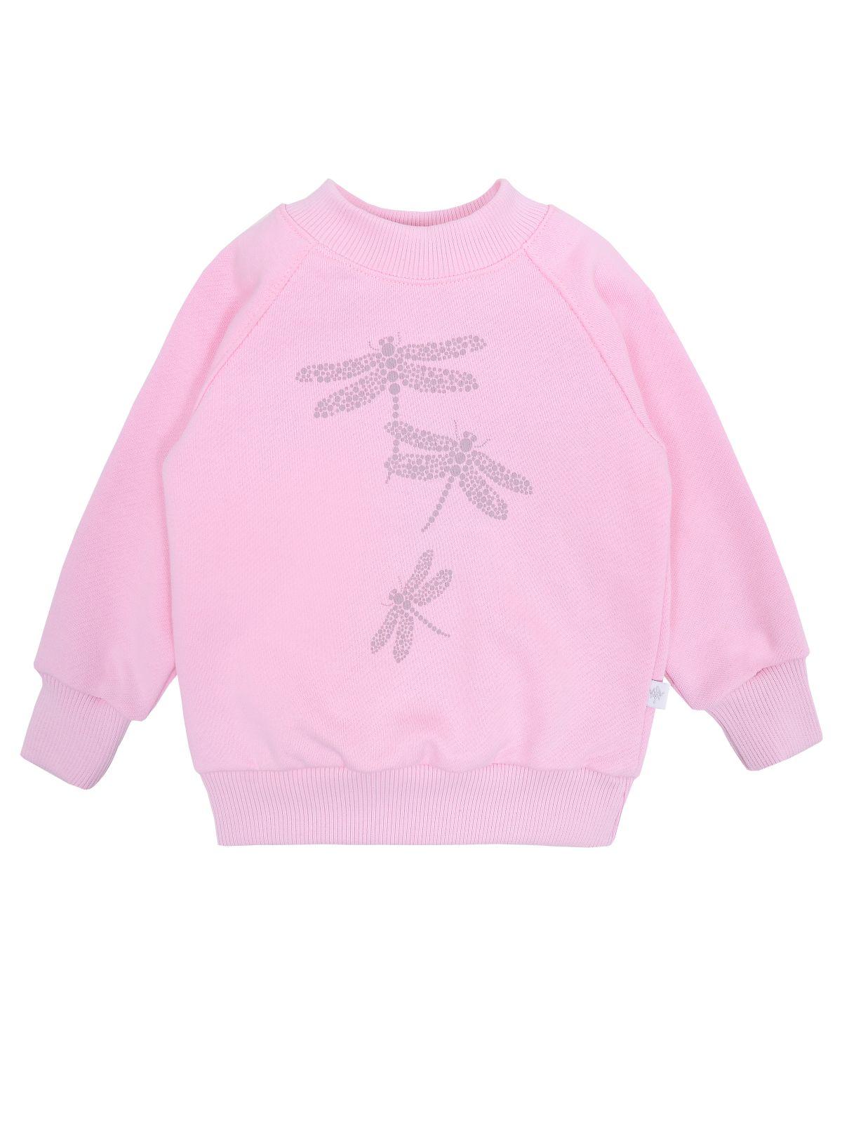 Джемпер для девочки Мамуляндия 19-837 Футер, Розовый р.104, 19-837