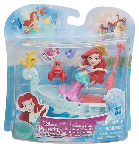 Купить Ариэль и лодка, Игровой набор Hasbro Disney Princess E0068 Принцесса Дисней,