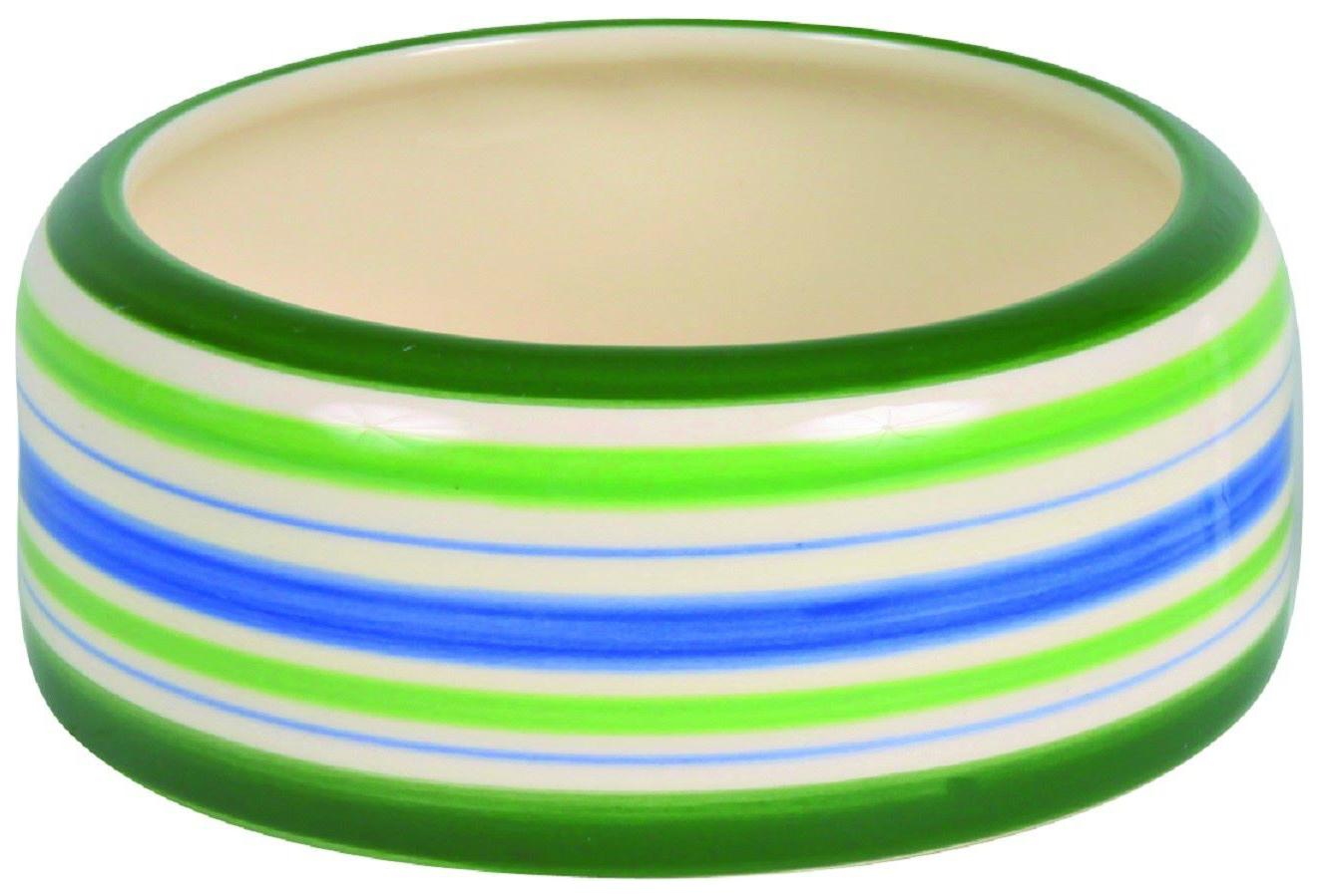 Одинарная миска для грызунов TRIXIE, керамика, разноцветный,