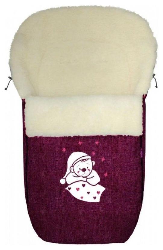 Купить Спальный мешок в коляску Womar №S77 Exlusive Bear Melange fabric Гранатовый, Конверты в коляску