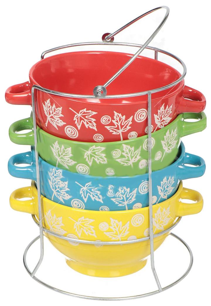 Набор бульонниц Коралл HEN1354 Разноцветный