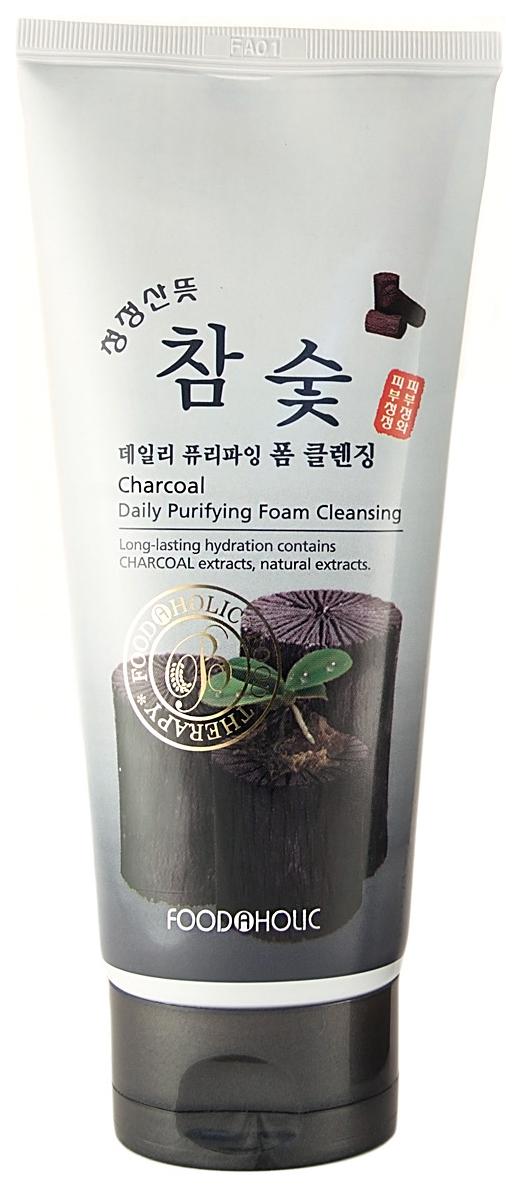 Очищающая пенка FoodaHolic Charcoal Daily Purifying Foam Cleansing 180 мл