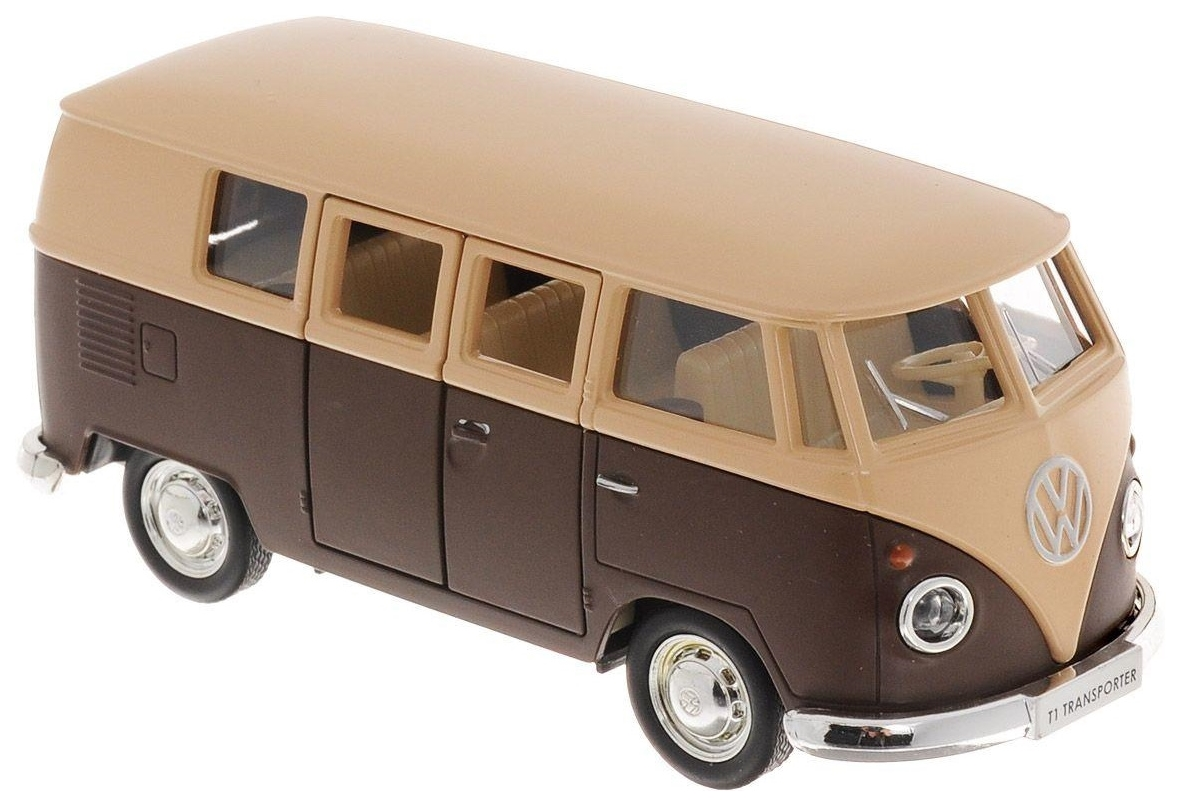 Купить Автобус металлический Rmz City Volkswagen Type 2 Transporter коричневый 1:32, Городской транспорт