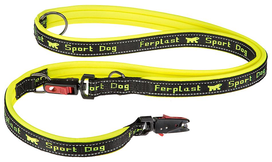 Поводок для собак Ferplas Sport Dog Matic 20 мм х 200 см Желтый 78004438